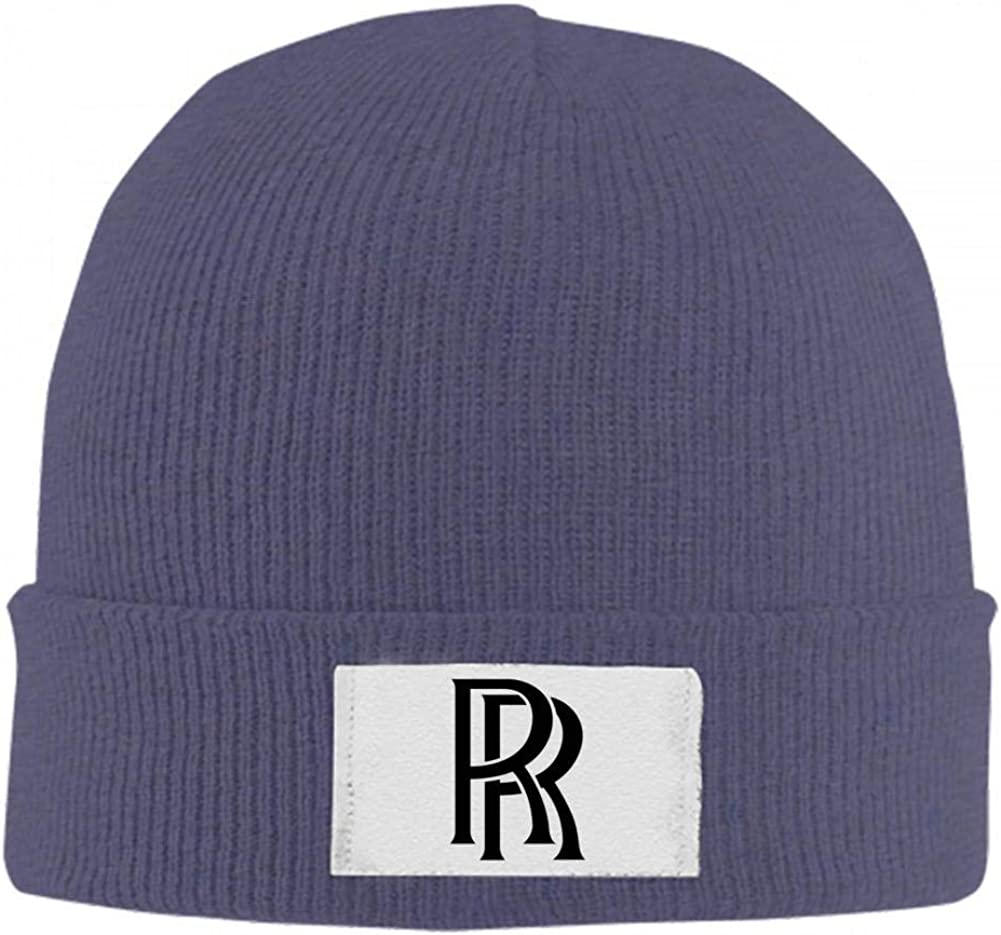 BEKAI Rolls-Royce Auto Logo Soft Skull Caps,Unisex Winner Warm Beanies Hats for Men//Women