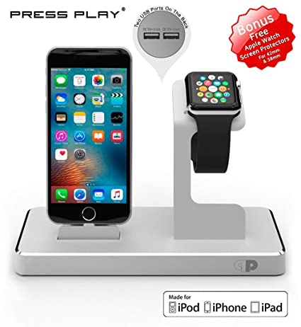 ONE Dock APPLE CERTIFIED Power Station Dock, Stand & Charger for Apple Watch Smart Watch, iPhone