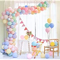 Maxi 100pcs Pastel Latex Balloons 12 Inches Assorted Macaron Candy Colored Latex Party Balloons for Wedding Graduation…