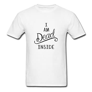 27ea869e Renting I am Dead Inside t Shirt For Men Cute Cotton Tee Short Sleeve Size S