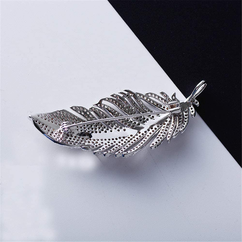 Womens Temperament Womens pin Inlaid Feathers high-Grade Brooch