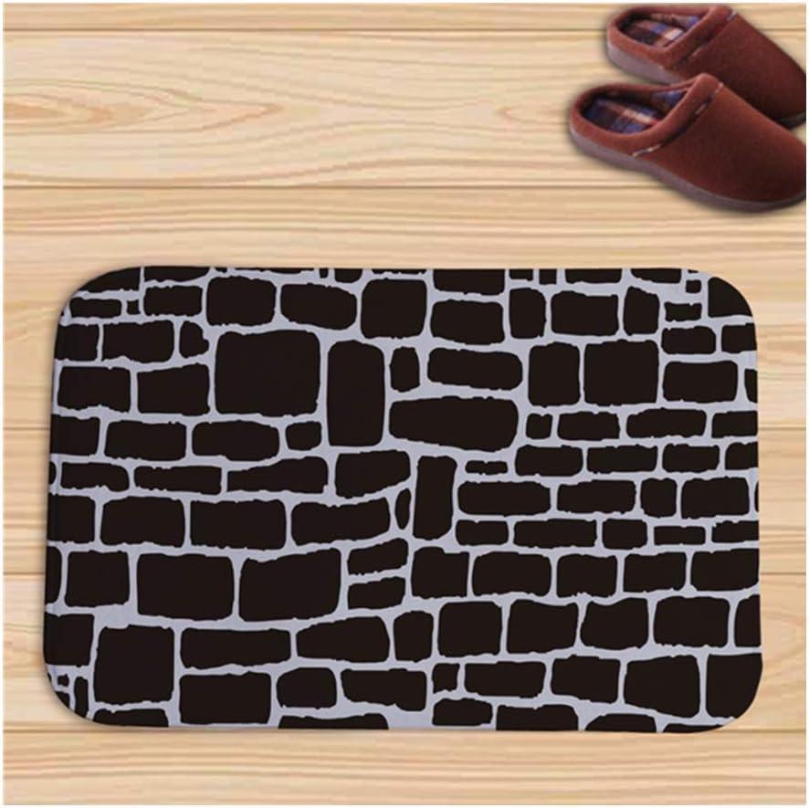 AMOY TANG Bathroom Mats Suction Pad Flannel Doormat Kitchen Brick Mat 40 60cm