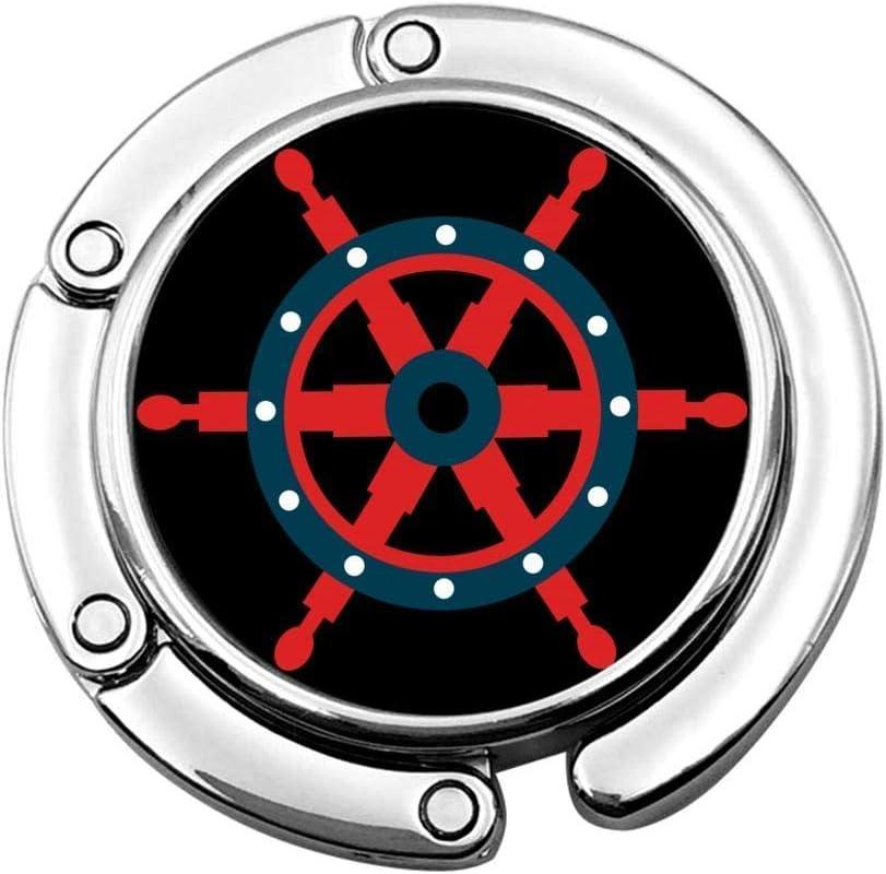 Gancho para monedero, diseño náutico de naves de la marina de guerra plegable para bolso de mesa de almacenamiento plegable decoración gancho de mesa, bolso de mujer