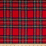 Newcastle Fabrics Yarn Dyed Flannel Plaid Red Fabric by The Yard