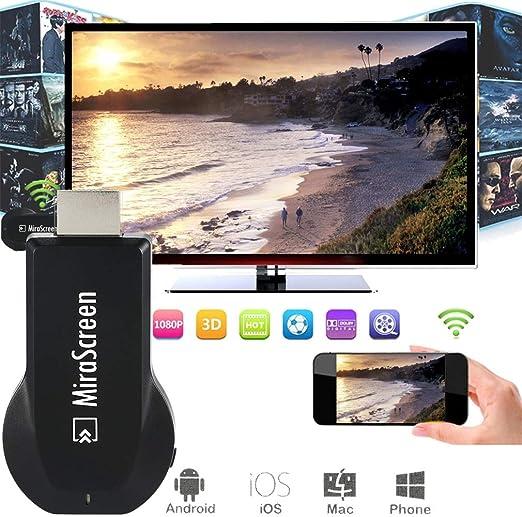 CHARGER DOCK 2.4G WiFi inalámbrico H DMI Display Adaptador de TV ...