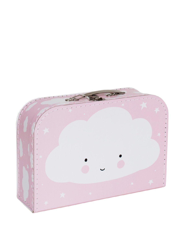 A Little Lovely Company SCCLBU03 - Maleta con diseño nube, color azul