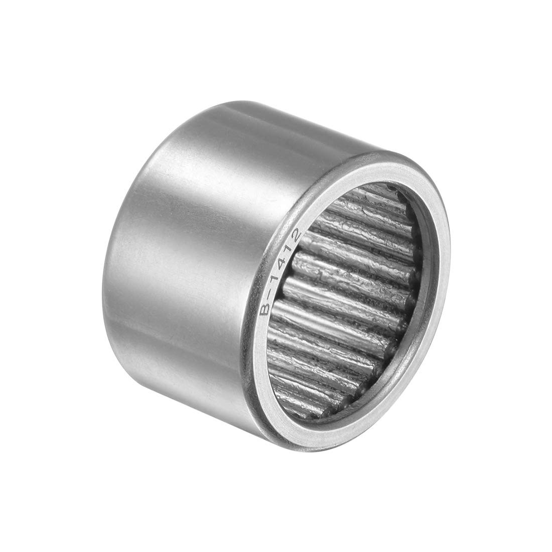 1-1//8-inch OD 1//2-inch Width 5590N Static Load 3370N Dynamic Load 4800Rpm Limiting Speed 7//8-inch I.D Full Complement Drawn Cup uxcell B148 Needle Roller Bearings Open