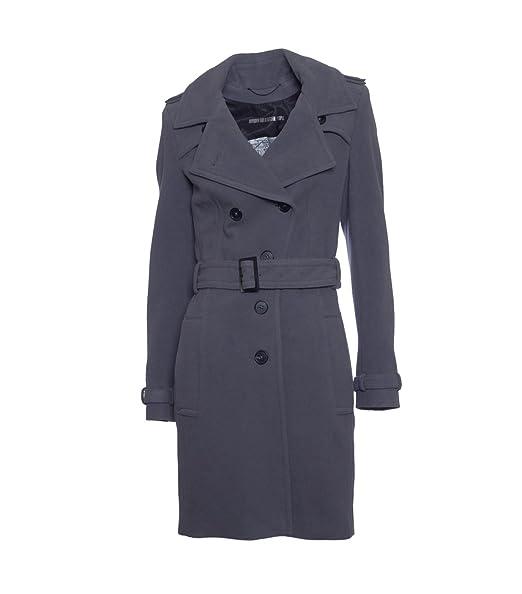 Drykorn Damen Wollmantel Diss 2 Grau Amazonde Bekleidung