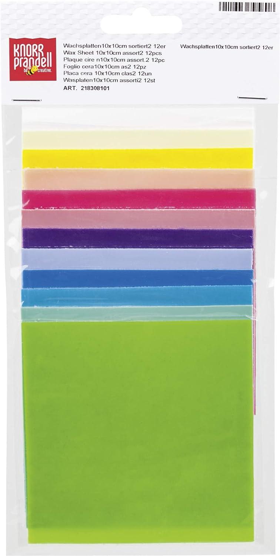 Multi-Colour Knorr Prandell Decorative Wax Assortment 12 Sheets 100x100x0.5mm