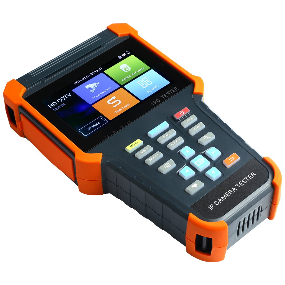 Wsdcam Upgraded 4 Inch 5 in 1 IPS Touch Screen IP Camera Tester Security CCTV Tester Monitor with TVI/AHD/CVI/POE/WIFI/4K H.265/1080p HDMI In/RJ45 X4-ADHS by wsdcam (Image #3)