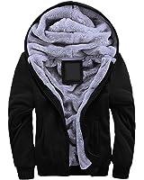 Yeokou Men's Winter Thicken Fleece Sherpa Lined Zipper