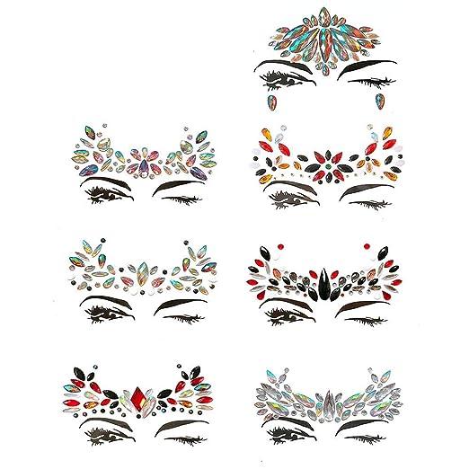 GEMSeven Temporal ojo gemas tatuaje pegatinas mujeres delineador ...