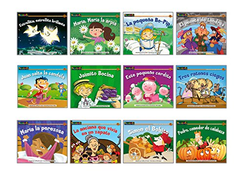 Rising Readers Fiction Single-Copy Set: Nursery Rhyme Tales Set 2 (1 copy of 12 titles) SPANISH