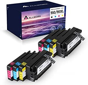 Allwork Compatible Ink Cartridge Replacement for HP 950XL 951XL 950 951 for Officejet Pro 8610 8600 8620 8630 8640 8660 8100 8615 8625 251dw 271dw 276dw Printer (2 Black 2 Cyan 2 Magenta 2 Yellow)