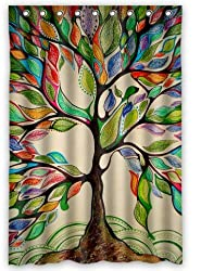 Tree of Life Gorgeous Like Leather 48(w) x 72(h) Bath Shower Curtain