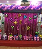 Backdrops Decoration Metallic Curtain Tinsel Fringe Foil Shimmer Curtail Door Window Wall String Supplies For Party Sorority Christmas Birthday Stage New Year Graduation Party Etc Rose2 (3 Pack(Wide X Drop): 3.28 X 9.84 Feet)