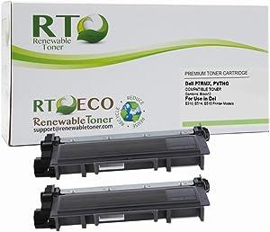 Renewable Toner Compatible Toner Cartridge Replacement for Dell P7RMX PVTHG E310dw E514dw E515dw E515dn (Black, 2-Pack)