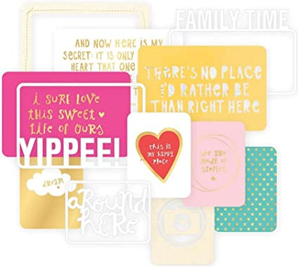 Project Life Card Themes Cards-High Five-Gold Foil 12 Piece