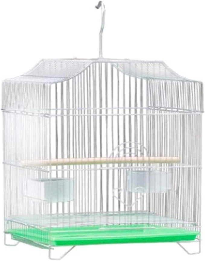 Cause Portable Gerbil Casa Pequeña Casa La jaula de pájaros de la jaula de hámster Starling loro Finch Canarias Casas de pájaros aves reproductoras enjauladas portátil alimentos for mascotas Aves Cuid