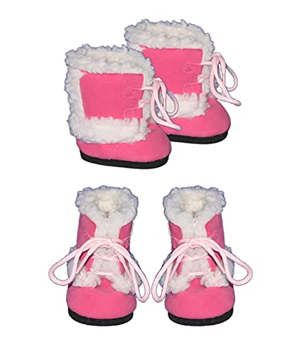Pink Furry Boots clothes fits most 12 Snugglems Stuffed Animals & Plush 8-10 Stuffed Animal kits & most Webkinz & Shining Star animals