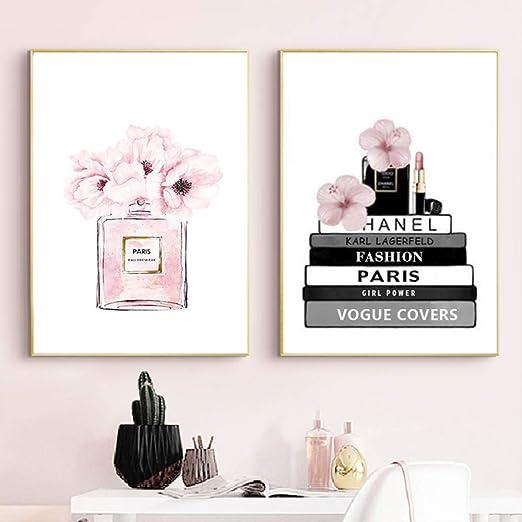 Inspirational home decor art prints posters Pink  Designer flowers vogue