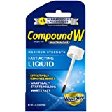 Compound W Fast-Acting Wart Removal Liquid with Brush Applicator - Maximum Strength - Effectively Removes Common and Plantar Warts - 0.31 Fluid Ounces