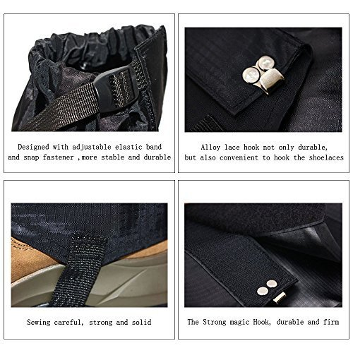 1-Pair-Nature-Worship-Black-Unisex-Waterproof-Gaiters-210D-Nylon-Cloth-Leg-Gaiters-Leggings-Cover-for-Biking-Boating-Fishing-Skiing-Snowboarding-Hiking-Climbing-Hunting