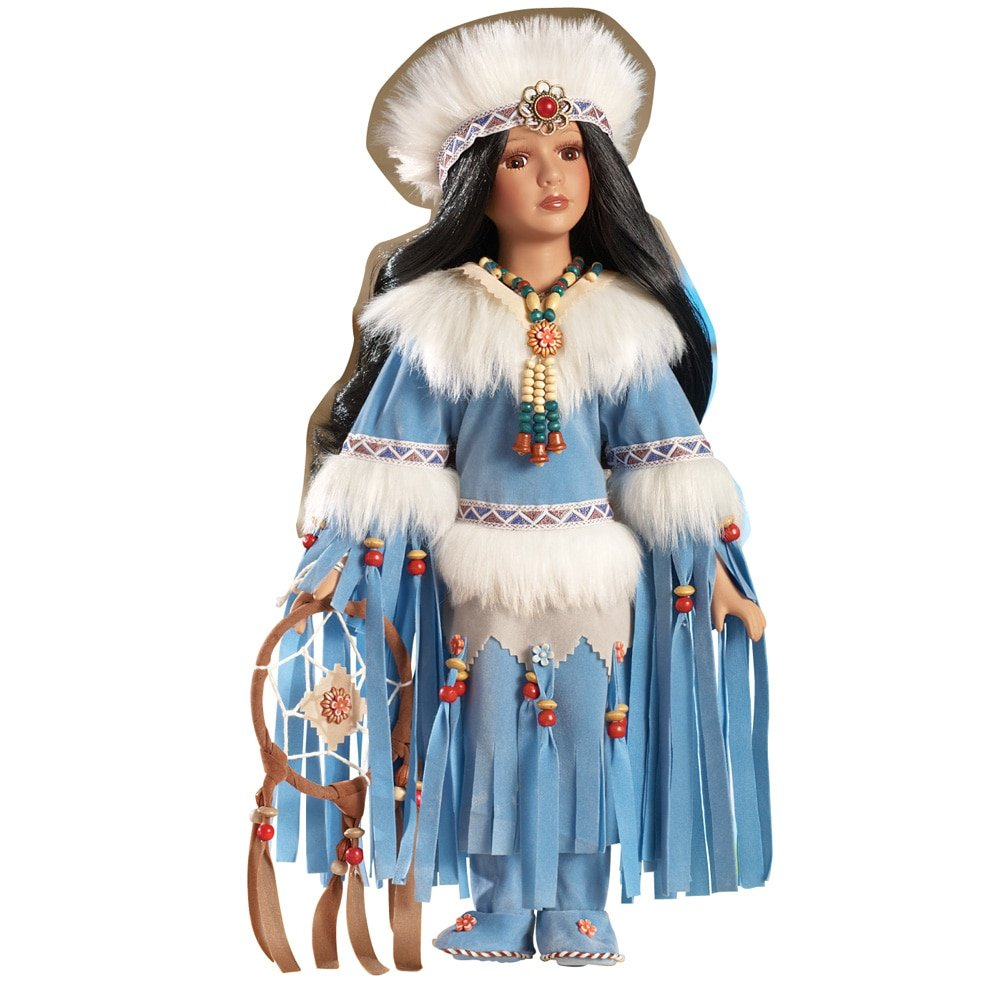 Amazon.com: Women\'s Gwenelda Native American Porcelain Doll: Home ...