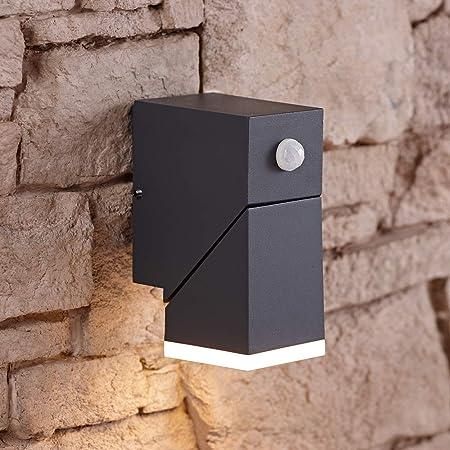 LED ANTRACITE muro esterno LAMPADE vialetto terrazze illuminazione casa porta luci