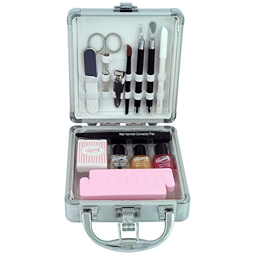 3 opinioni per Gloss! A0026S Valigetta Trucco, Beauty Nails Care, 14 Pezzi, Grigio