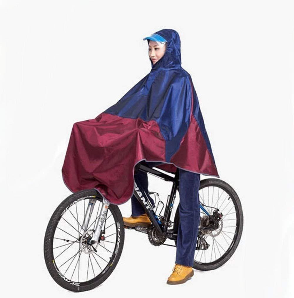bleu rouge  LXRZLS Hommes Femmes Vélo Vélo Vélo Imperméable Cap Cape Poncho à Capuche Coupe-Vent Manteau De Pluie Mobility Scooter Cover (Couleur   bleu rouge)