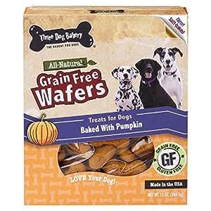 Amazon.com : Three Dog Bakery Grain Free Wafers Baked Dog