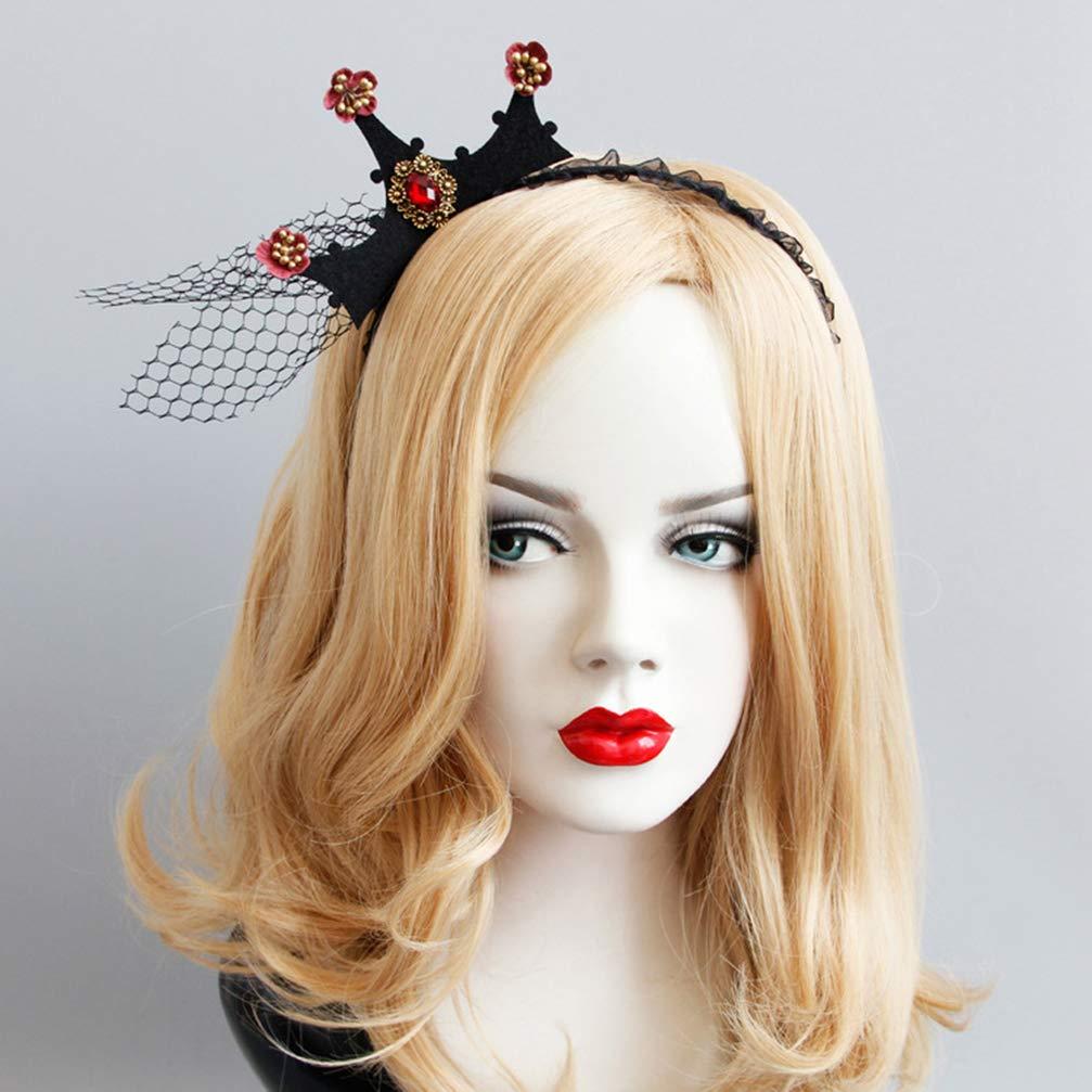 Lurrose halloween bandeaux 5pcs nouveaut/é feutre araign/ée web chapeau de sorci/ère couronne cheveux cerceaux hairbands pour enfants filles gar/çons halloween costume habiller