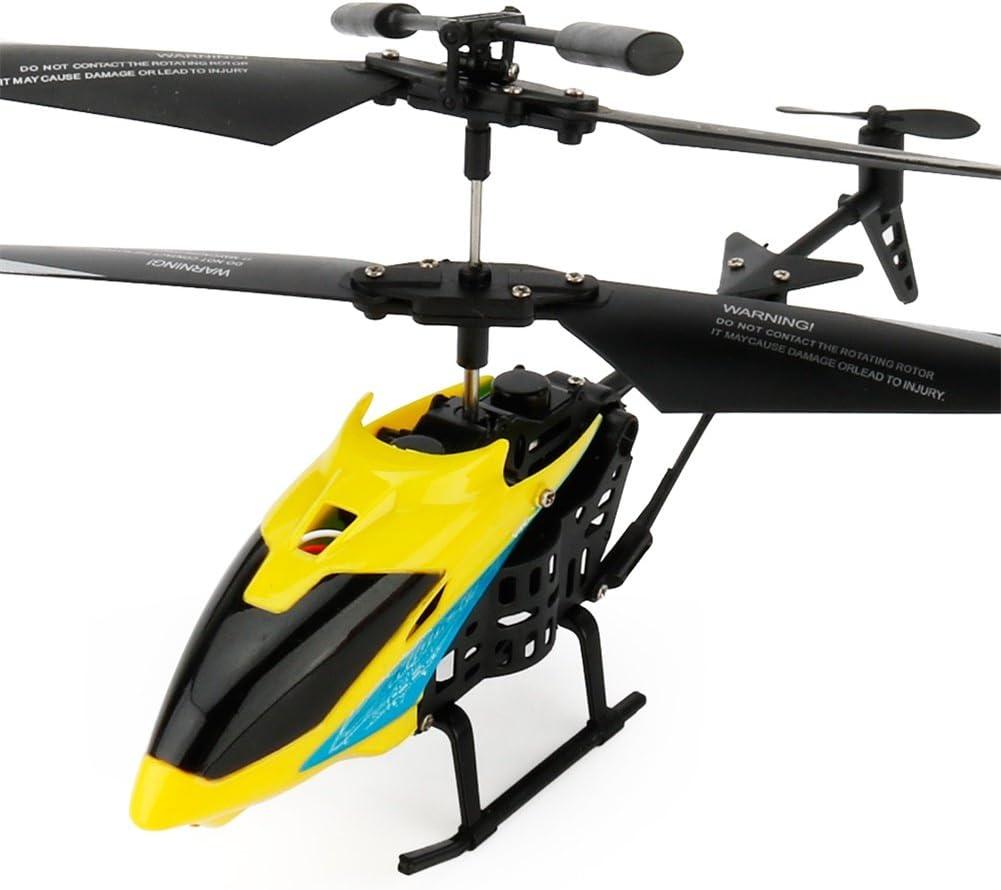 helic/óptero para ni/ños ACHICOO Juguete para ni/ños Color Amarillo Regalo Divertido para ni/ños Modelo Mini para avi/ón teledirigido por Infrarrojos con giroscopios de 2 Canales