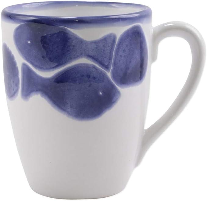 Vietri Viva Santorini Fish Mug Coffee Cups Mugs