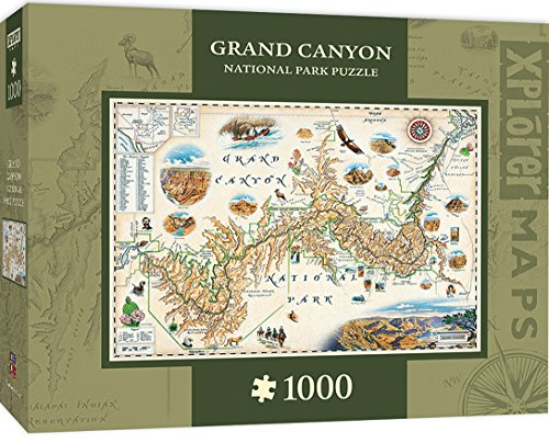 (MasterPieces Xplorer Grand Canyon Map 1000 Piece Jigsaw Puzzle)