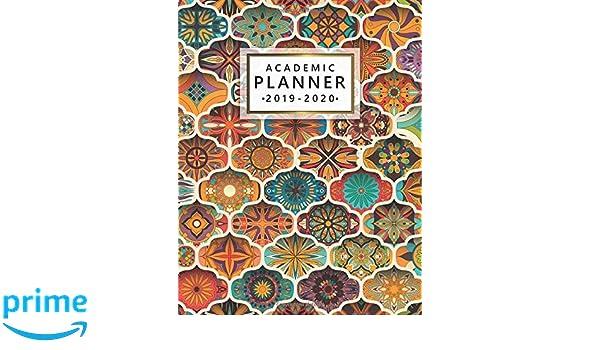 2019-2020 Academic Planner: Cute Boho Weekly & Monthly ...