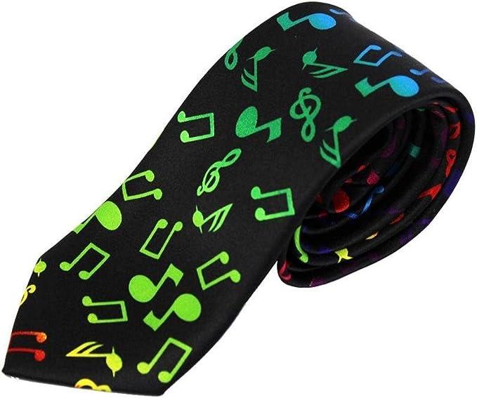 Leema corbata notas musicales y poliéster de hombre: Amazon.es ...