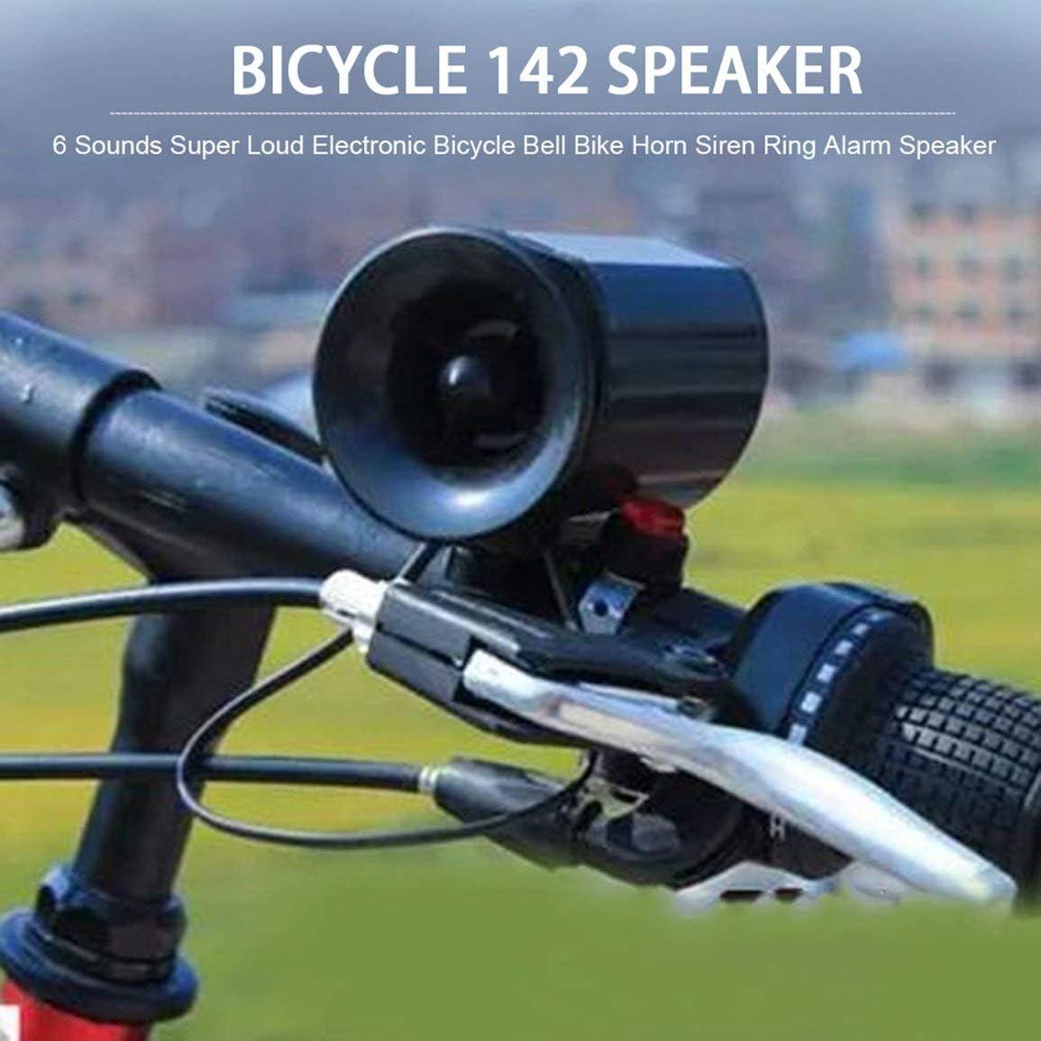 Garciadia 6 Wasserdichten super h/örbarer elektronisches Fahrrad Fahrradklingel Fahrrad-Lenker Horn Sirene Ring Alarm Lautsprecher Easy Sounds zu installieren Farbe: schwarz