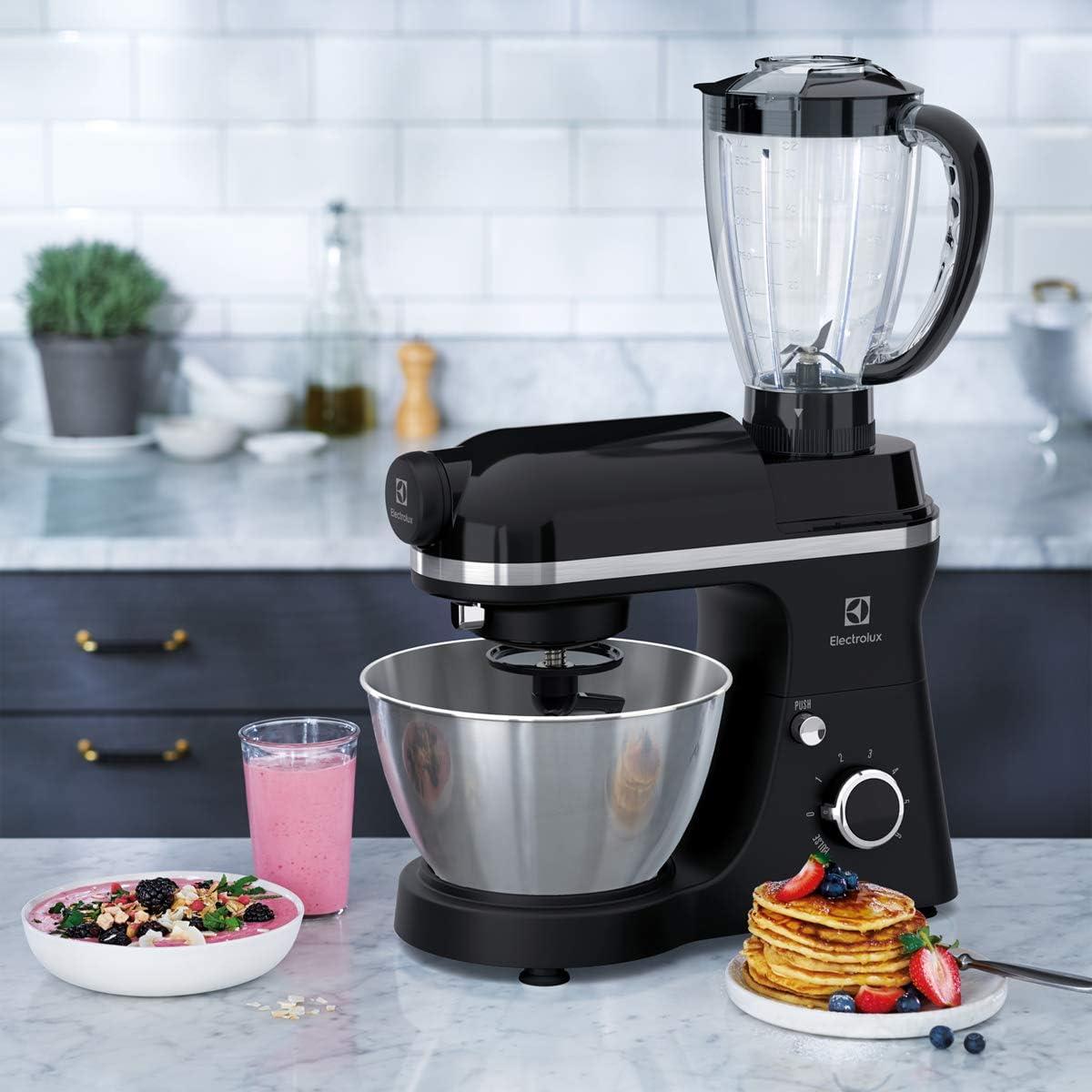 Electrolux EKM3700 800W 4L Negro - Robot de cocina (4 L, Negro, Giratorio, 1,2 m, Metal, Acero inoxidable): Amazon.es: Hogar