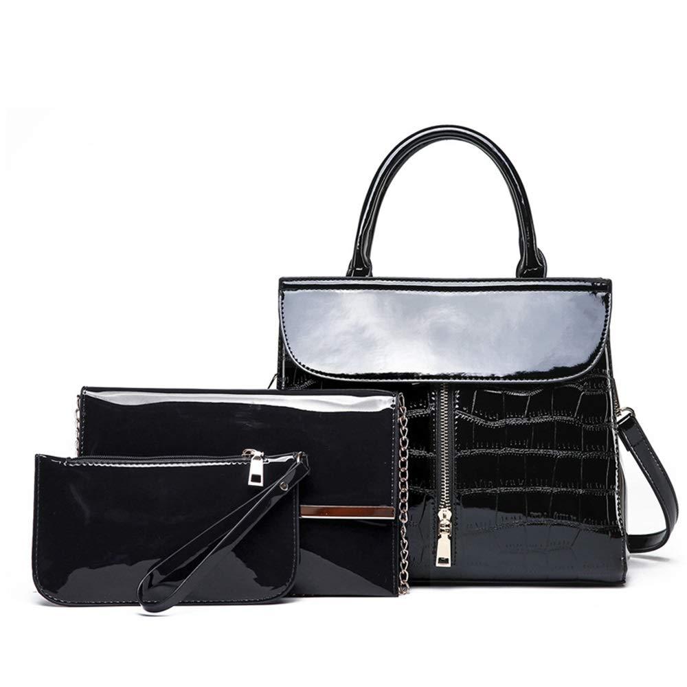DASEXY Lackleder-Handtaschen Wilde Schultertasche Diagonal Scorpion Mother Bag Fashion Damentasche, Handtasche (Farbe   Schwarz) B07PXMTRV3 Clutches Erste Gruppe von Kunden