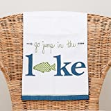 Glory Haus Go Jump in The Lake Tea Towel, Multicolor
