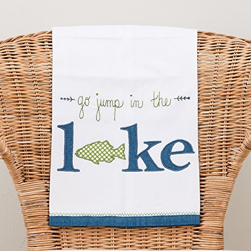 Glory Haus Go Jump in The Lake Tea Towel, Multicolor by Glory Haus