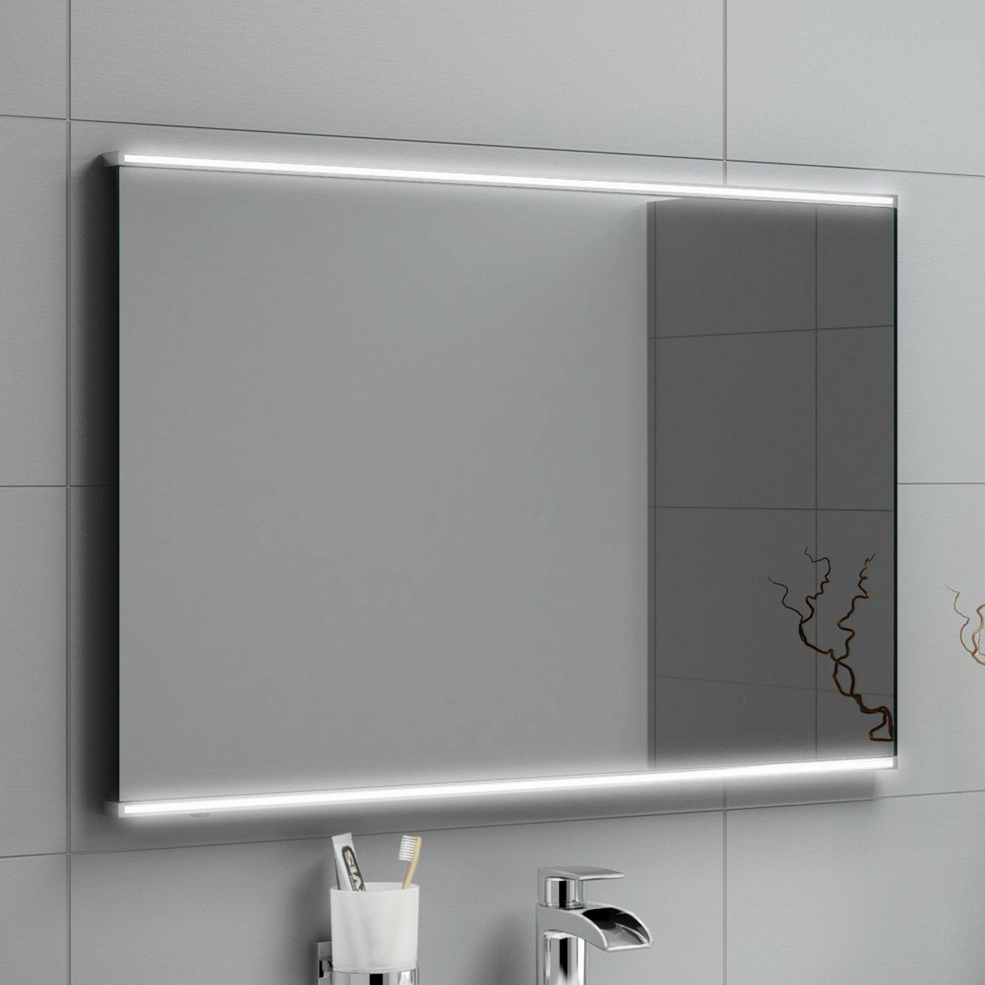 500 X 700 Mm Modern Illuminated Led Bathroom Mirror Light Sensor + Demister  Ml3003: Ibathuk: Amazon: Kitchen & Home