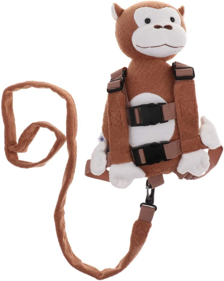Kids Toddler Backpack bag Walk Safety Anti-lost Harness w// Leash Monkey NEW