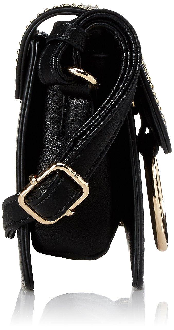 Schwarz Women/'s Cross-Body Bag B x H T L.Credi Genf 7x13,5x19,5 cm