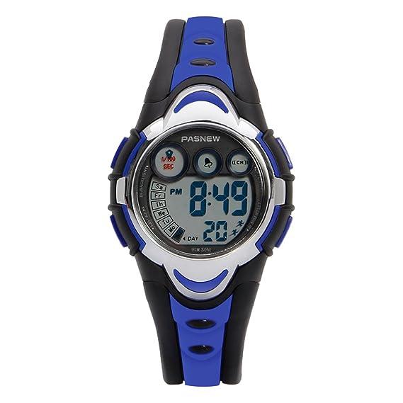 31199b87bdfc Hiwatch Relojes Deportivos Impermeable para los Niños Niñas Reloj de Pulsera  Digital a Prueba de Agua Infantiles Azul  Amazon.es  Relojes