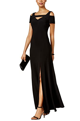 Nightway Womens V Neck Cap Sleeve Shoulder Cut Full Length Maxi Formal Party Dress