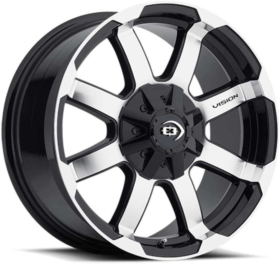 Vision 413 Valor Gloss Black Machined Face Wheel with Machined Finish 15x7.5//5x114.3mm