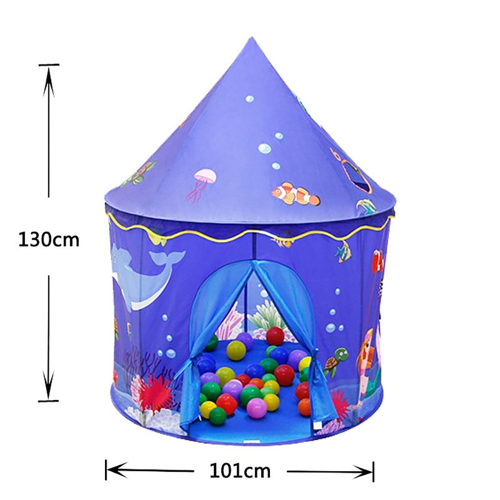 NAUY- Spielzeug & Spiele Kinder Spielzelt Spiel Playhouse Kinderspielzeug Spielhaus Portable Große Innen-und Außenbereich Kinderzelt (Ohne Ball)